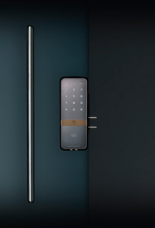 Cerradura digital para vidrio YALE 313